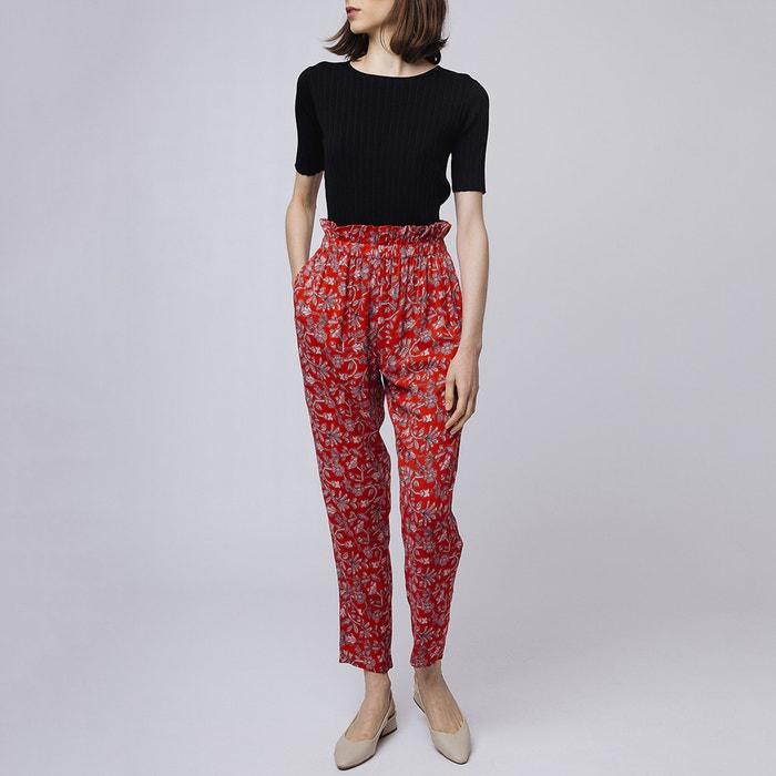 AltaFantasia Stilizzata Pantaloni Rosso Compania Larghi Vita OPZXTkiu