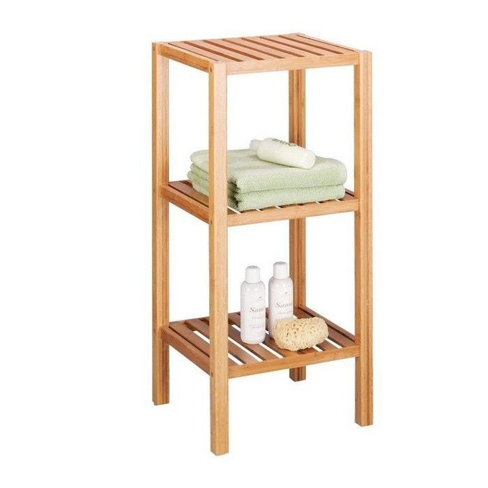 Étagère salle de bains 3 étages bambou