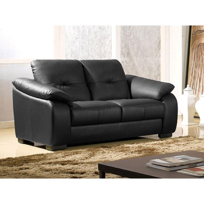 canap cuir 2 places lila noir la maison du canape la. Black Bedroom Furniture Sets. Home Design Ideas
