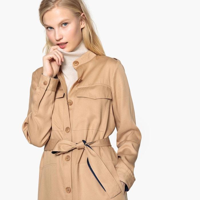 4e95978cb88be Robe chemise col mao, ceinture bicolore La Redoute Collections | La Redoute