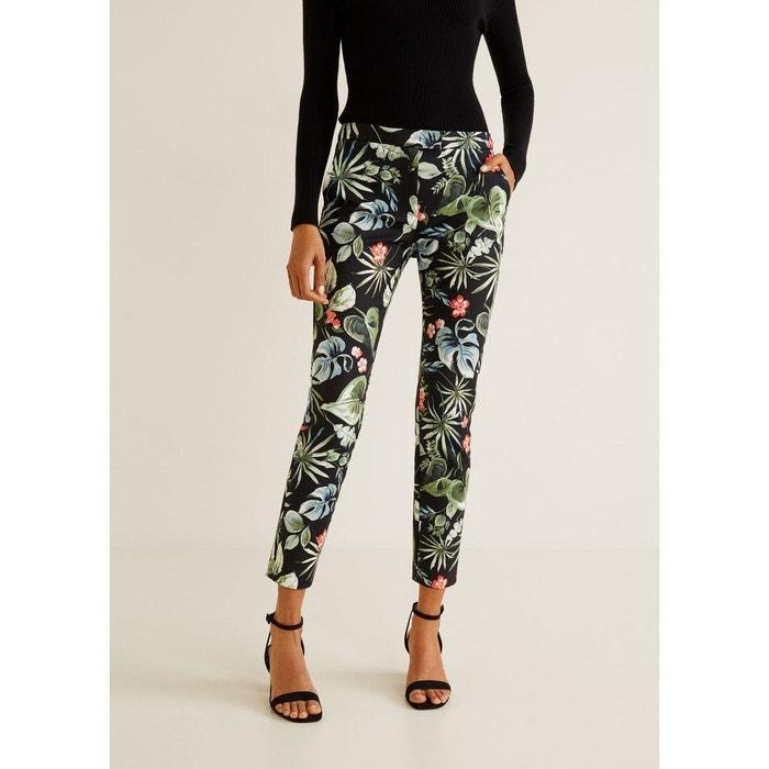 Pantalon imprimé noir Mango   La Redoute 6ad13819bd83