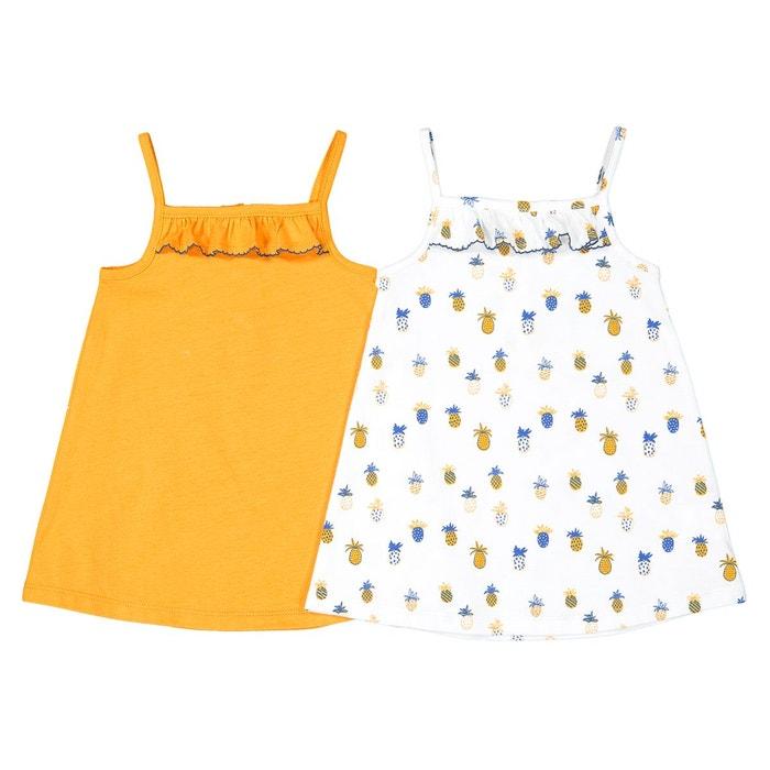 f9a460f8c43ba Lot de 2 robes à fines bretelles 1 mois-3 ans