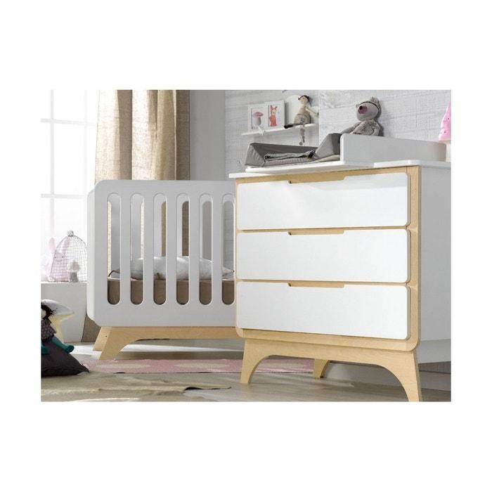 Petite chambre bébé bonheur bouleau blanc Chambrekids | La Redoute