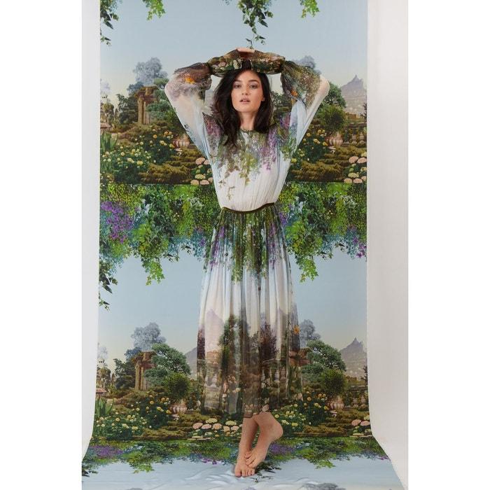 9990b9015ec Robe en mousseline de soie imprimé hera jardin suspendu vert Fete Imperiale
