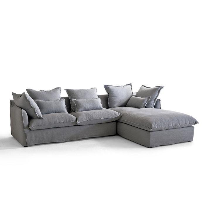 Canapé d'angle fixe en lin froissé,  bultex Odna  La Redoute Interieurs image 0