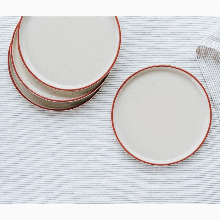 Confezione da 4 piatti per dessert in grès  HELLO BLOGZINE X LA REDOUTE image 0