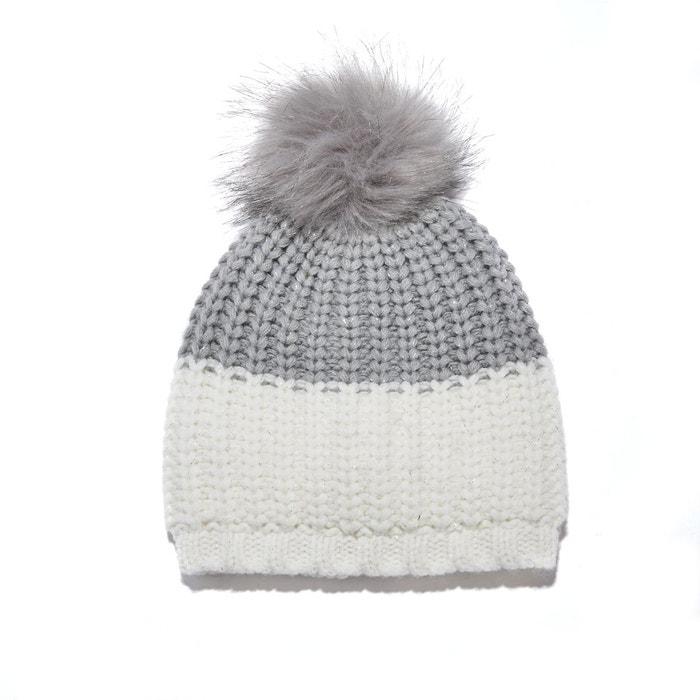 34aceba6a1d5f Bonnet bicolore à pompon enfant gris La Redoute Collections | La Redoute