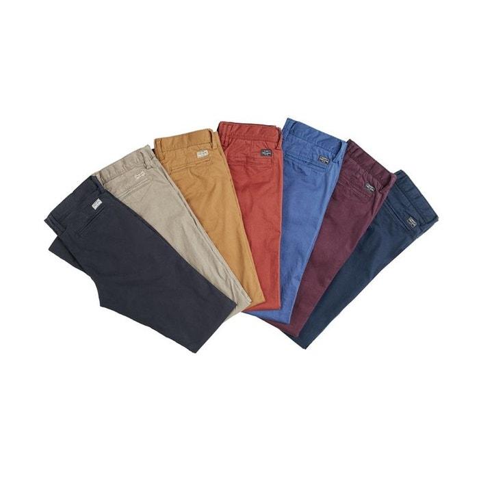 pantalon chino boy stret existe en plusieurs coloris teddy smith la redoute. Black Bedroom Furniture Sets. Home Design Ideas