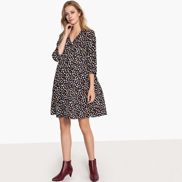 Animal print wrapover maternity dress  be15b7c25
