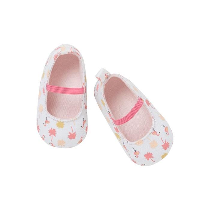 f0b858b6bf457 Chaussons de parc ballerines bébé fille blanc Vertbaudet