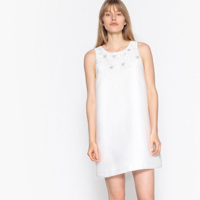 Rechte jurk zonder mouwen met fantasie parels  MADEMOISELLE R image 0