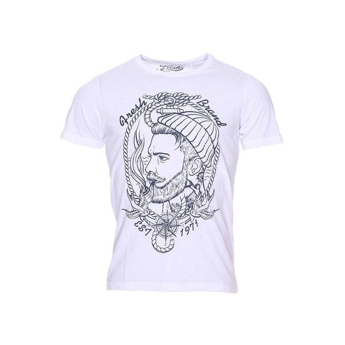 The fresh brand tee shirt blanc fresh brand la redoute for Fresh brand t shirts