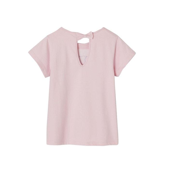 426c5df4dbf T-shirt fille à maxi sequins manches courtes violet Vertbaudet