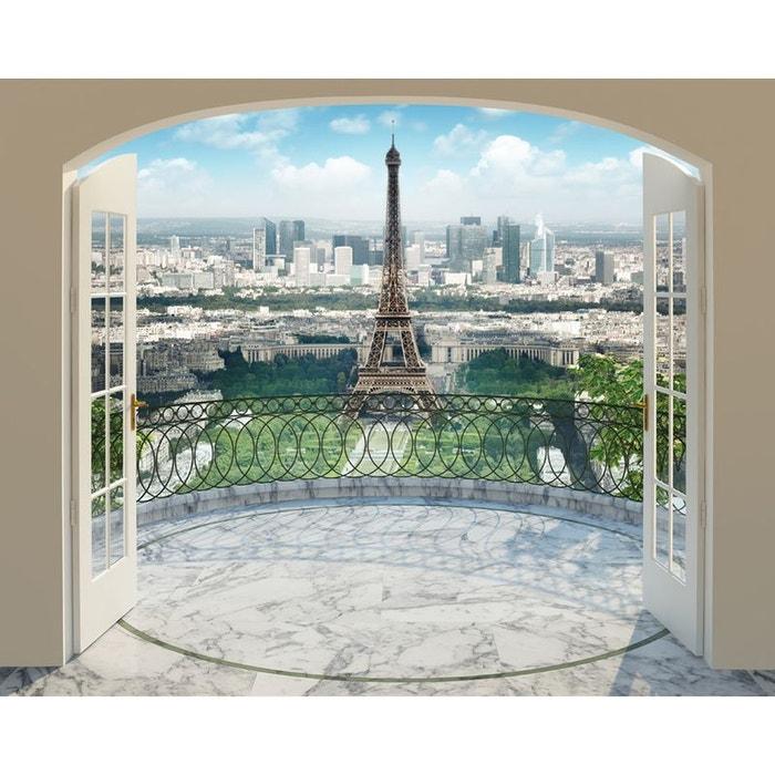 Papier Peint Photo Panorama Tour Eiffel Paris 244x305 Cm Multicolor