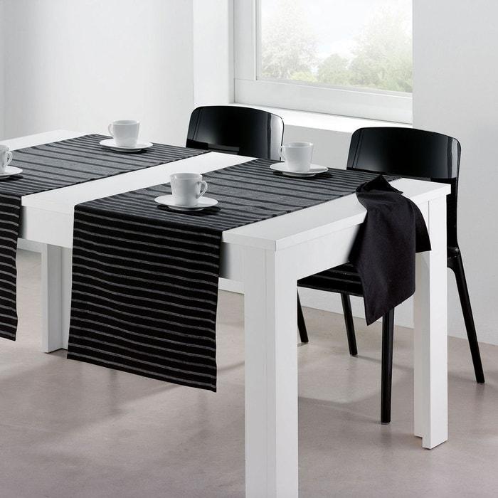 chemin de table banquet noir les ateliers du linge la redoute. Black Bedroom Furniture Sets. Home Design Ideas