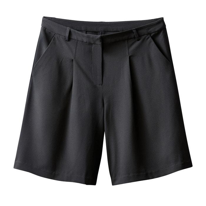 Bermuda plis couchés noir La Redoute Collections  9965f092d0f