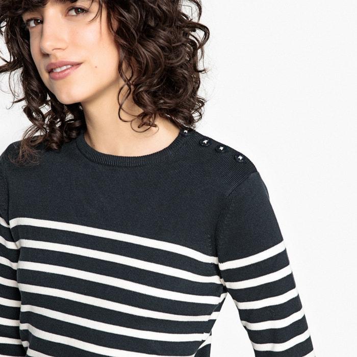 con cuello redondo marinero estilo Redoute Collections de La Jersey nWU8wYaq80