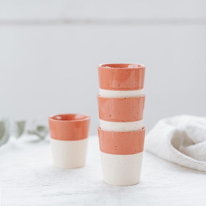 Sandstone Tea Cups set of 4  HELLO BLOGZINE X LA REDOUTE image 0