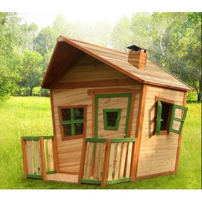 Cabane en bois pour enfant jesse axi la redoute - Construire maisonnette en bois ...
