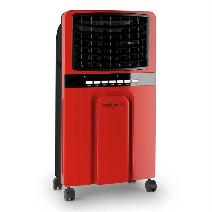 oneconcept baltic red ventilateur rafraichisseur d 39 air 65w 400m h rouge couleur unique. Black Bedroom Furniture Sets. Home Design Ideas
