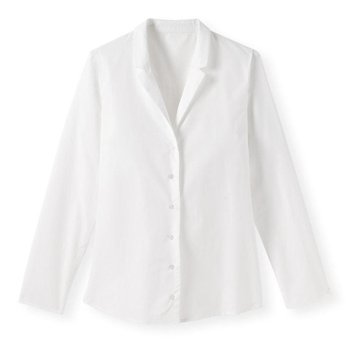 243;n cuello Camisa Collections La sastre con entallada Redoute algod OR881q
