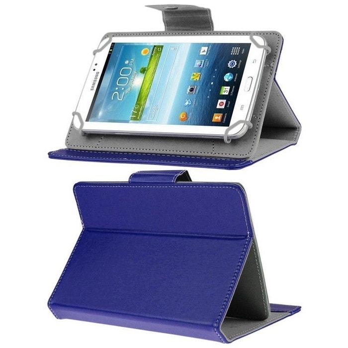 housse universelle tablette tactile 7 pouces support ajustable bleu couleur unique yonis la. Black Bedroom Furniture Sets. Home Design Ideas