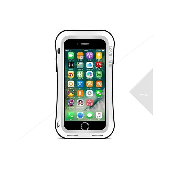 Coque Antichoc blindée iPHONE 8 plus - LOVE MEI FRANCE - étanche - Rouge