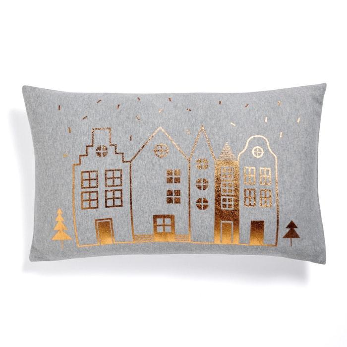 Makurra fleece cushion cover grey copper coloured la redoute interieurs l - La redoute interieurs ...