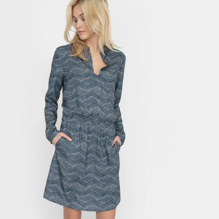 afbeelding Bedrukte jurk met hemdskraag R studio