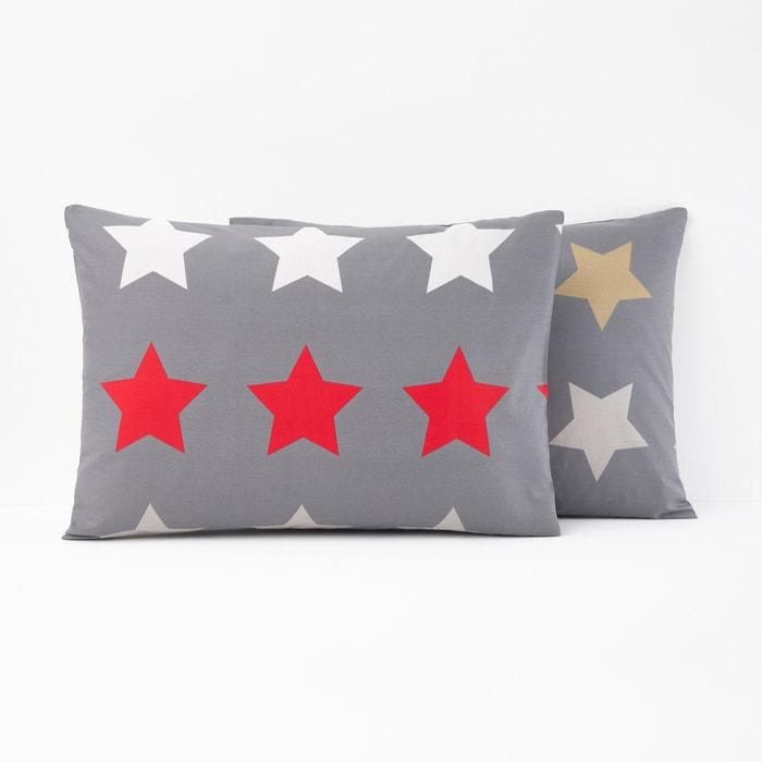 Stars Printed Single Pillowcase  La Redoute Interieurs image 0