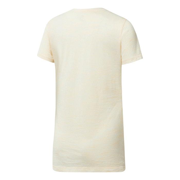 REEBOK corta y con redondo manga Camiseta lisa cuello 1wr1q
