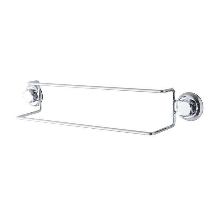 Porte-serviettes double à ventouses, bestlock argent Compactor   La Redoute 255b3b7d7b97
