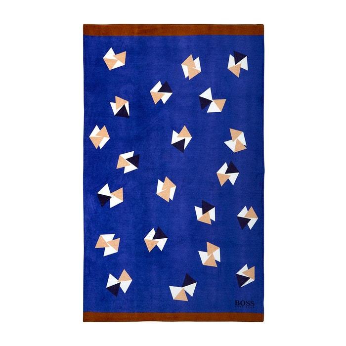 Serviette de plage , origami multi couleurs Hugo Boss Home   La Redoute