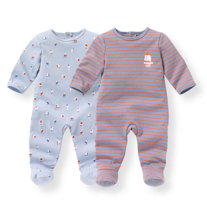 Image Pyjama coton 0 mois-3 ans (lot de 2) R mini