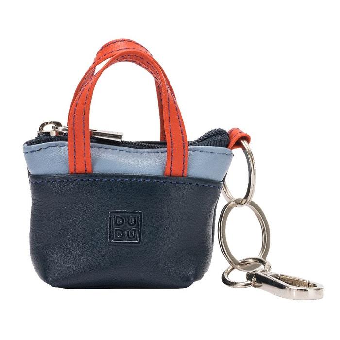 a0beba48ee Porte-clés à petit sac porte-monnaie en cuir coloré avec fermeture zip 2  anneaux et mousqueton Dudu | La Redoute