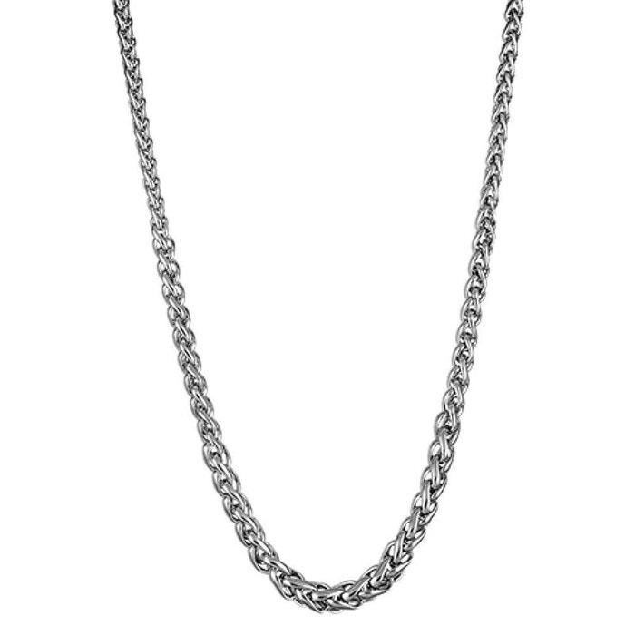 Collier femme longueur réglable: 44,5 cm à 50,5 cm maille palmier acier inoxydable couleur unique So Chic Bijoux   La Redoute
