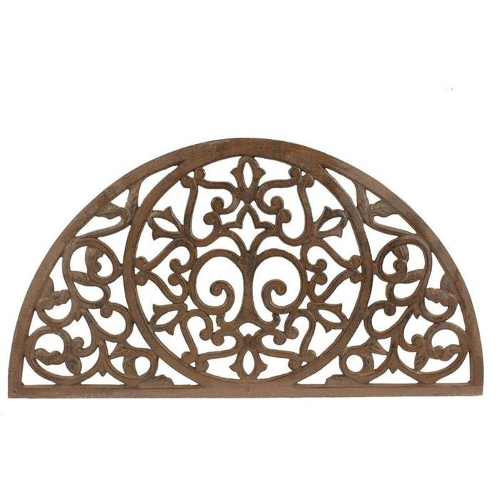 tapis paillasson fer forge demi lune fonte marron decoration d autrefois la redoute. Black Bedroom Furniture Sets. Home Design Ideas