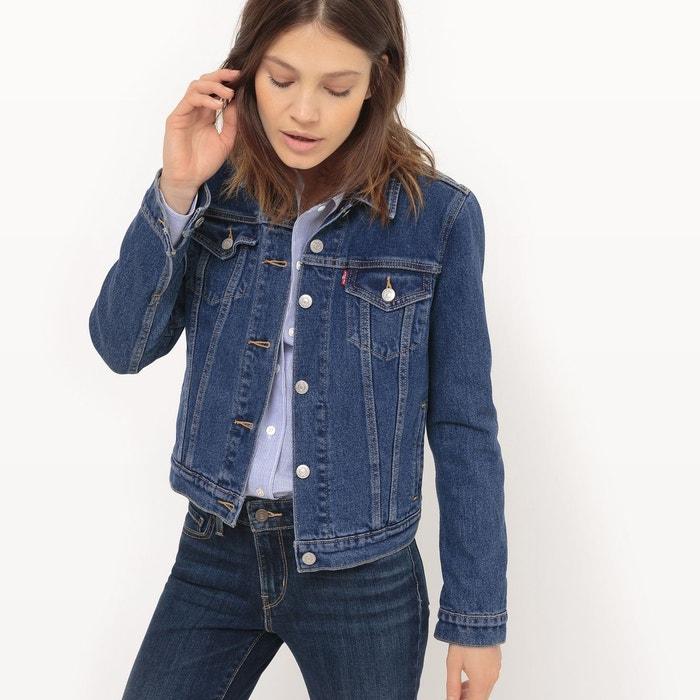 veste jean coton bleu indigo levi 39 s en solde la redoute. Black Bedroom Furniture Sets. Home Design Ideas