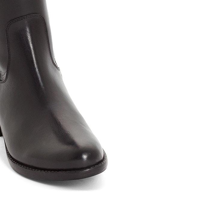 Bottes cavalières, cuir noir Anne Weyburn