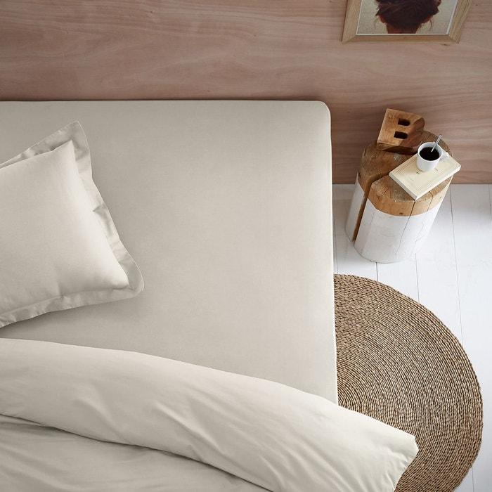 drap housse jersey pur coton biologique la redoute interieurs la redoute. Black Bedroom Furniture Sets. Home Design Ideas