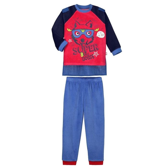 pyjama gar on manches longues beau gosse cape amovible bleu petit beguin la redoute. Black Bedroom Furniture Sets. Home Design Ideas