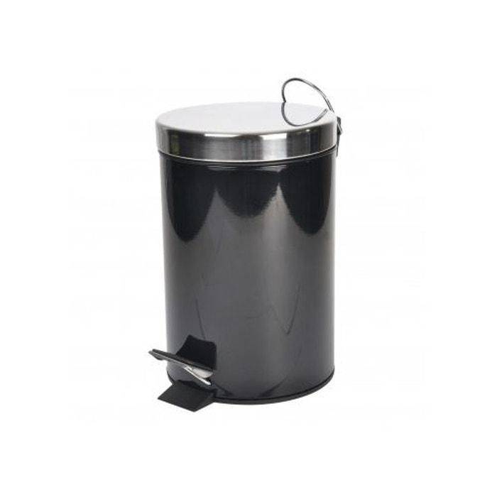 Poubelle de salle de bain tendance en métal noir Home Bain