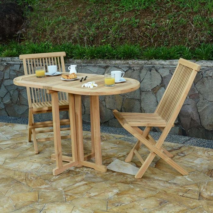 En 120 Cm2 Java Jardin TahitiTable Pliante Teck X De Salon 60 Chaises Ecograde xQBeWrCdo