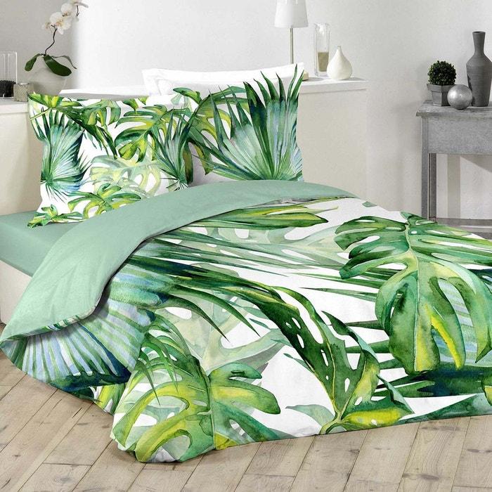 Parure De Lit Vert.Parure De Lit Feuilles Tropicales