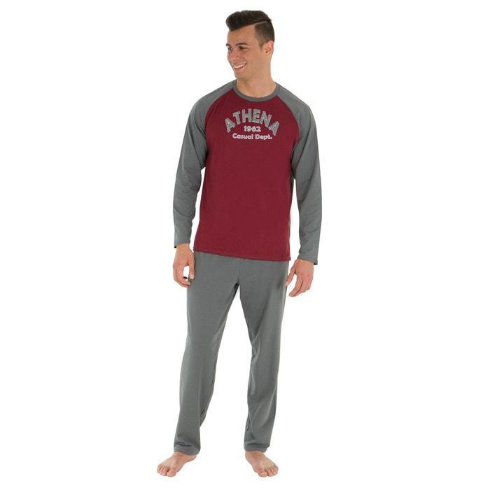 Crew Neck Cotton Long Pyjamas  ATHENA image 0