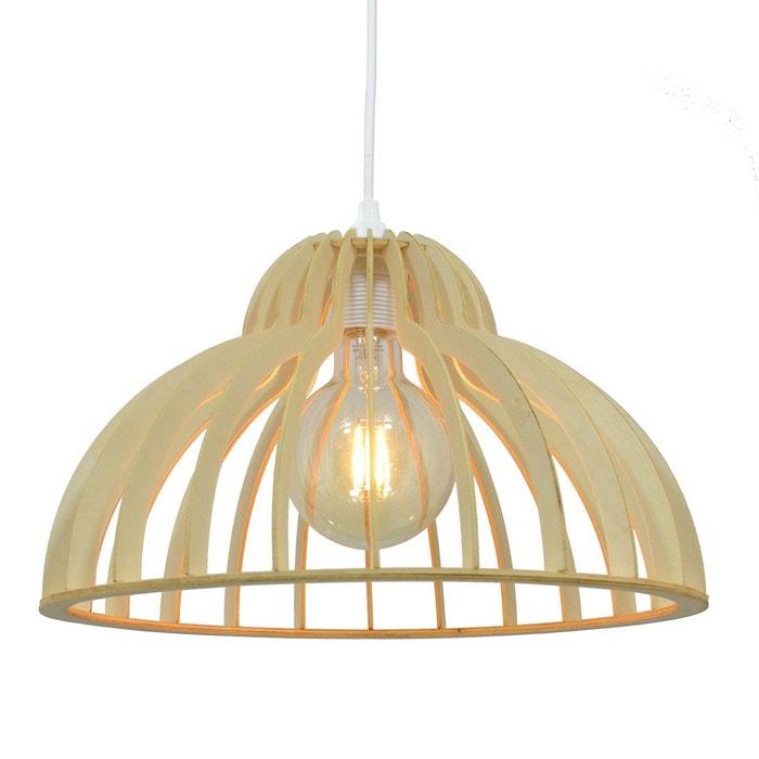 suspension en lamelles de bois tendance nature dinowood beige clair c creation la redoute. Black Bedroom Furniture Sets. Home Design Ideas