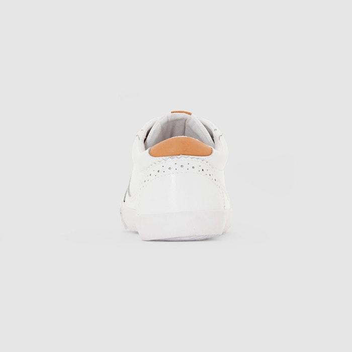 Baskets en cuir blanc La Redoute Collections