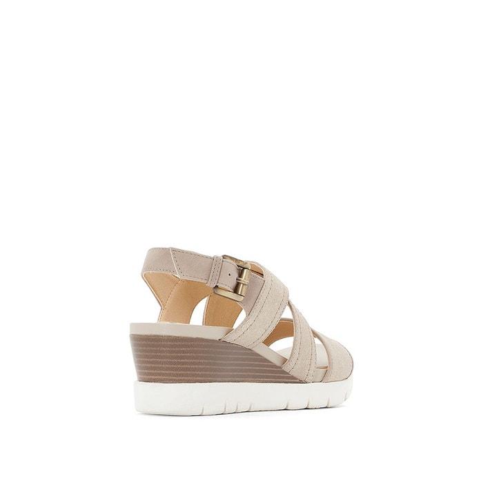... Sandales cuir compensées D MARYKARMEN P.B GEOX (3) ...
