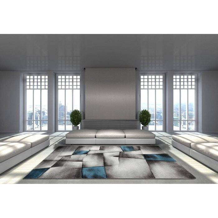 Tapis avec effet 3d vintage bleu pour salon crystal bleu allotapis la redoute - La redoute tapis salon ...