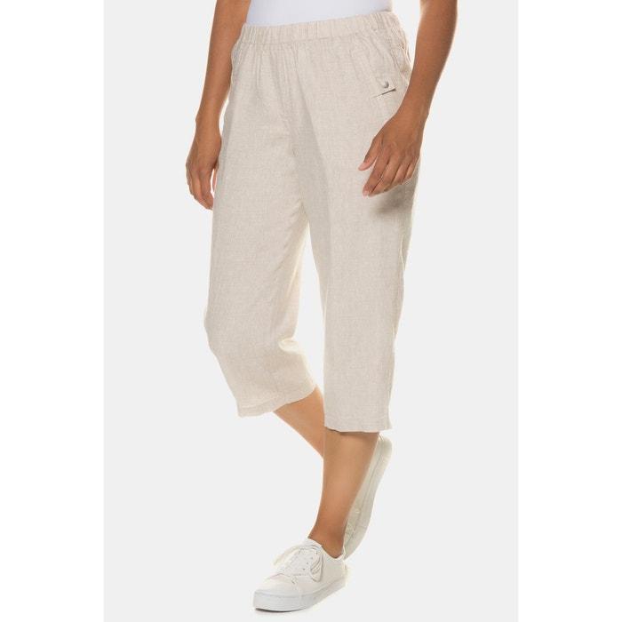 Messieurs 7//8 Pantalon Bandes De Coton En Lin-look